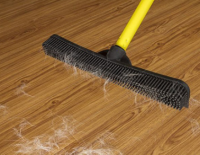 Removing pet hair from wood floors