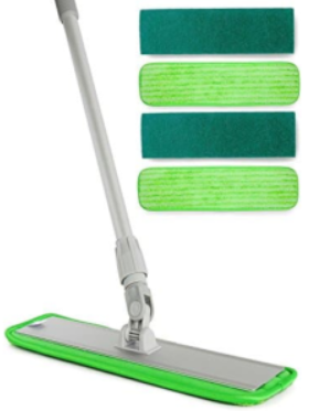 Turbo Microfiber Mop Hardwood Floor Cleaning & Washable Pads
