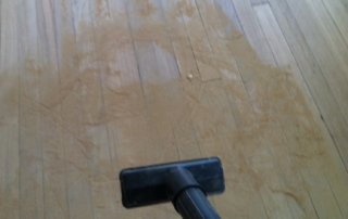 how to clean after sanding
