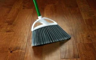 sweep hardwood floors