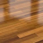 polished hardwood floor