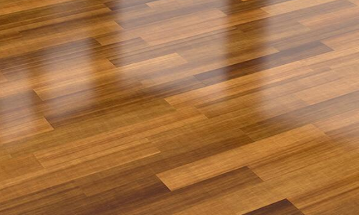 polished hardwood floor