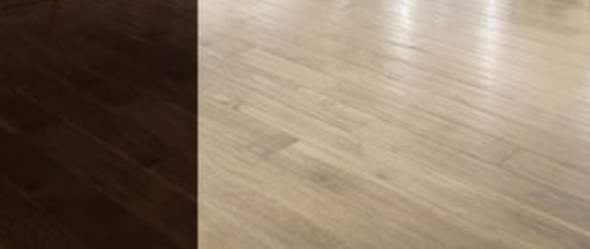 before and after wood floor lightening