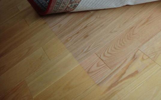 faded hardwood floor