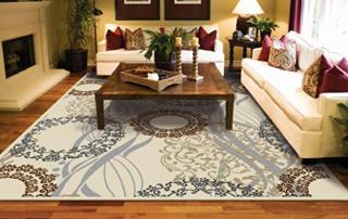 area rug on hardwood floors