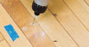 drill holes to drive nails in