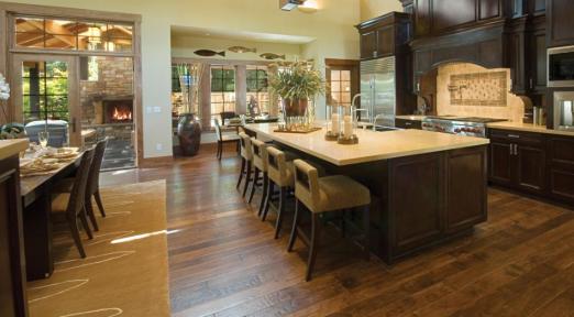 hardwood floors in the kitchen