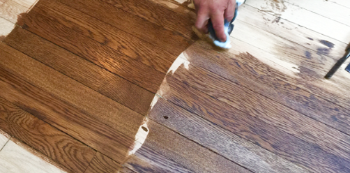 how to stain a wood floor