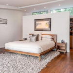 wooden floors in the bedroom
