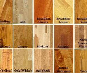 Types of hardwood floor