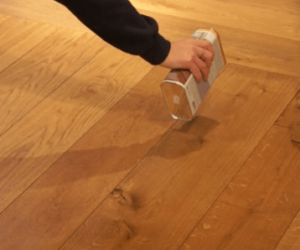 wax removal from wooden floor