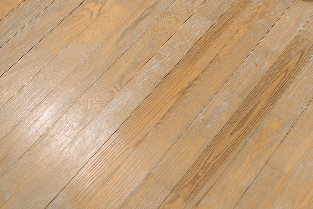 How do you repair damaged wood floors