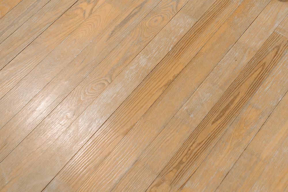 How do you repair damaged wood floors