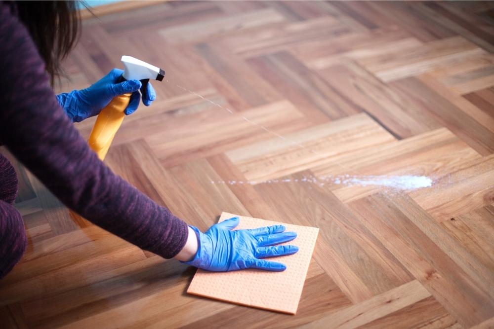 Can you use Clorox wipe hardwood floors