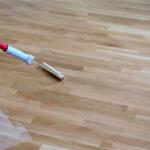 How do you clean parquet wood floors?
